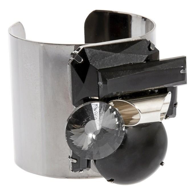 Bracelet en métal et strass, Asos, 20€