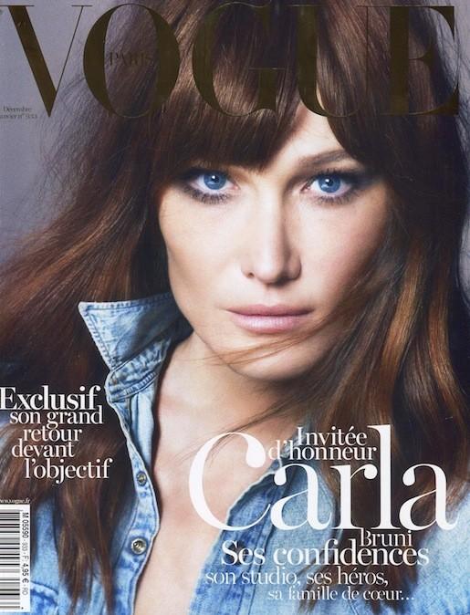 Carla Bruni en couverture de Vogue Paris