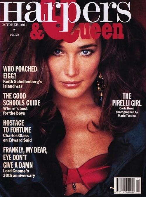 Carla Bruni en couverture du Harper & Queen