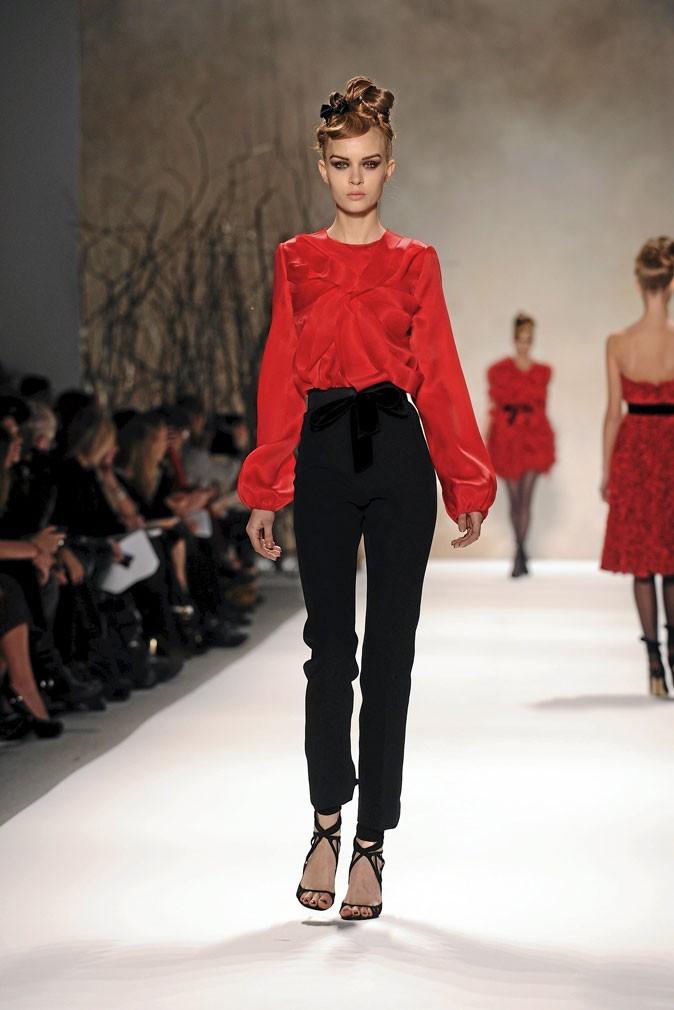 La blouse Monique Lhuillier du défilé automne-hiver 2011-2012 !