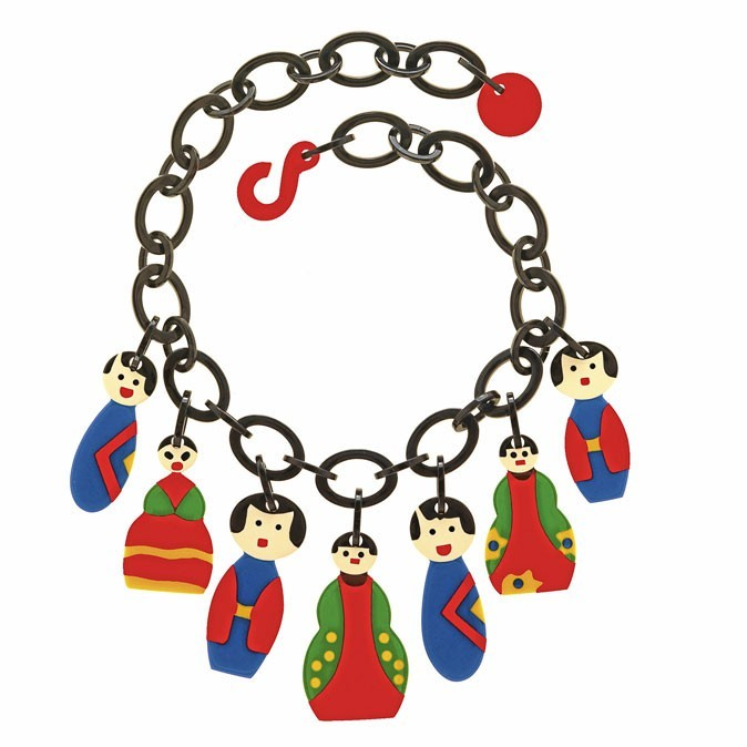 Le collier à pendentifs colorés Marion Godart à 105€ !