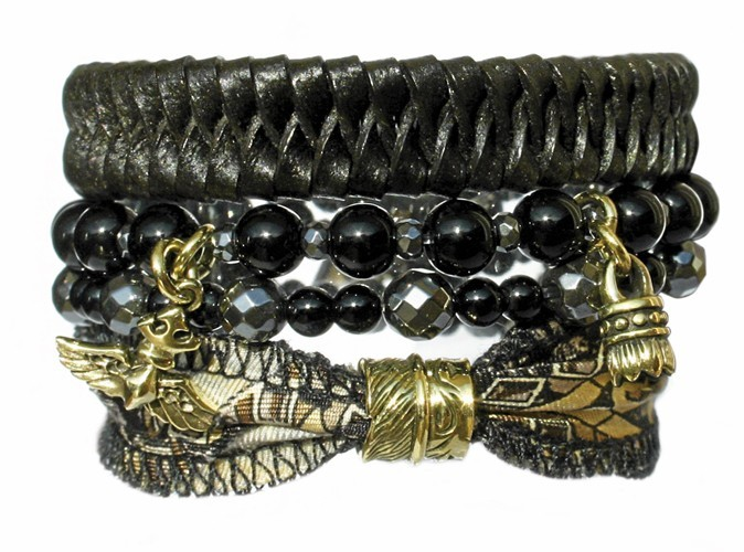 Bracelet multitour Black Devil, My Deva.