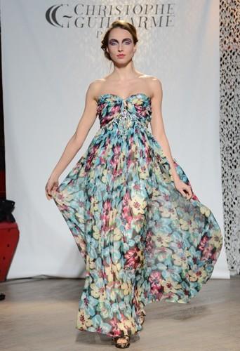 La robe imprimée fleurie - Défilé Christophe Guillarmé automne-hiver 2013/14