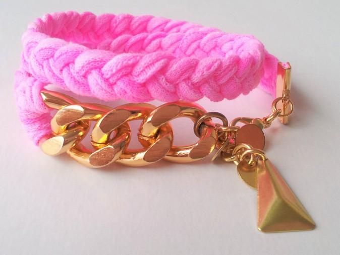 Bracelet en suédine tressée, Mam'zelle Pampilles, 24€