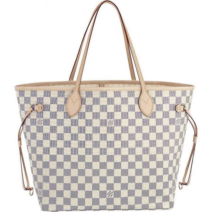 Cabas en toile, damier Neverfull, Louis Vuitton , 640€