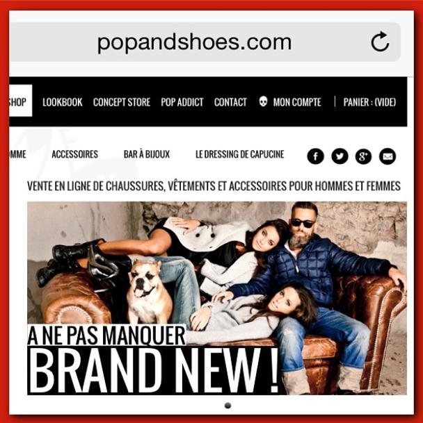 Capucine pose pour Pop and Shoes et y lance son vide-dressing en ligne !