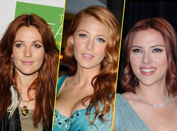 """Drew Barrymore, Blake Lively et Scarlett Johansson passent en """"roux"""" libre !"""