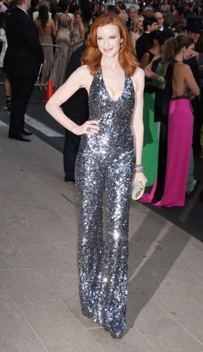 Marcia Cross en Pamella Roland lors des CFDA Fashion Awards