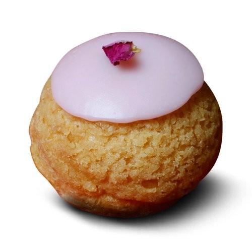 Chou à la crème rose framboise, Popelini