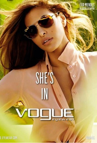 Eva Mendes pour Vogue Eyewear