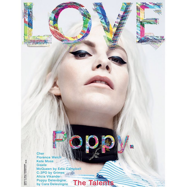 Poppy Delevingne en une de Love Magazine