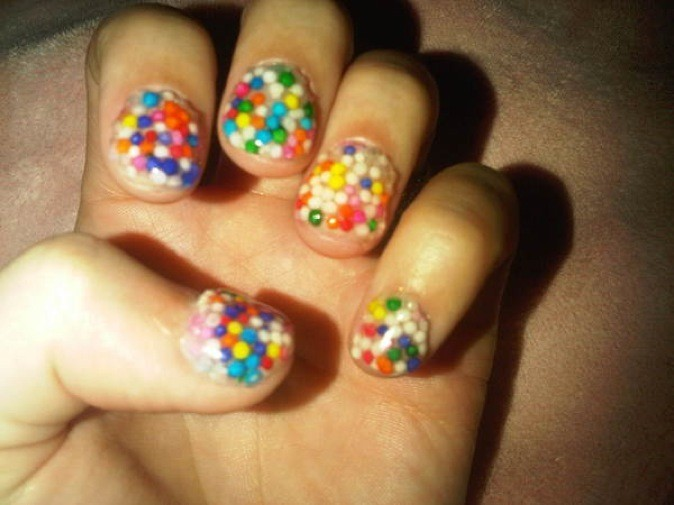 Les ongles multicolores !