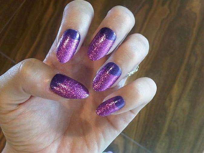 Les ongles violets !