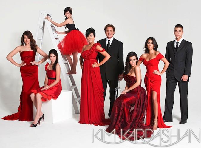 La carte de voeux de la famille Kardashian 2008, rouge passion !