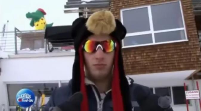 Jordan dans Les Ch'tis font du ski