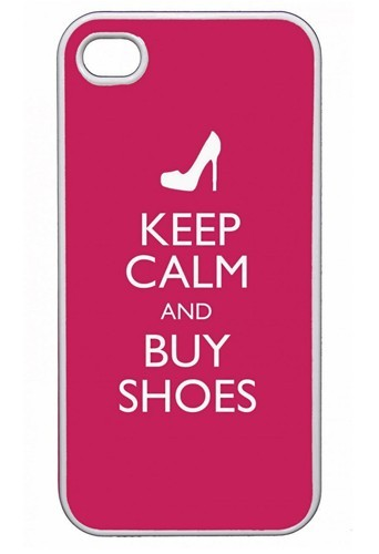 Coque iPhone, Keep calm and buy Shoes, Env. 19 €.
