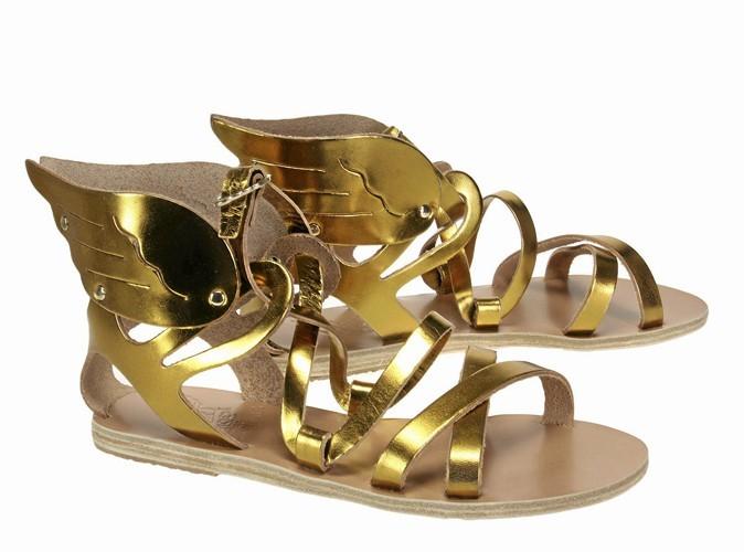 Dorés, Ancient Greek Sandals, sur lulli-sur-la-toile.com, 160 €.