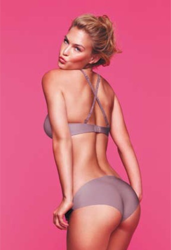 Photo : Bar Refaeli en lingerie Delight Mauve Grisé Passionata