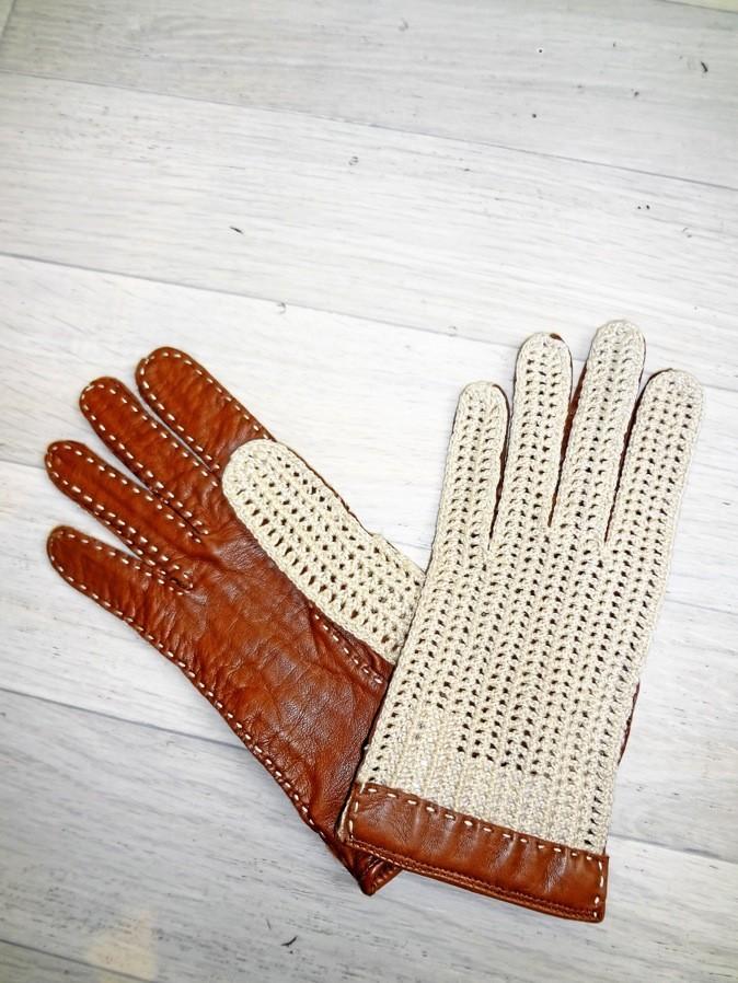 Gant cuir et crochet? Glove Story. 69€