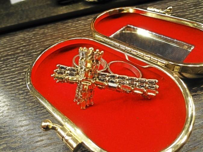 Bague double doigts croix, Lafayette Accessoires 15 €