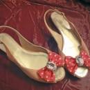 Sandales à noeud et strass, Vanina 130 €