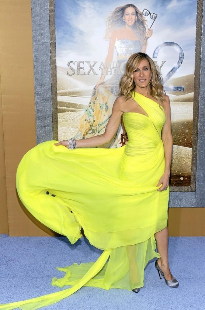 Sarah Jessica Parker ravissante en robe de soirée!