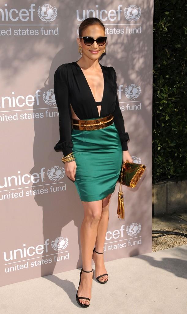 Look de star : Jennifer Lopez porte le color block de Gucci