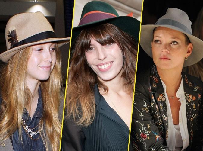 Look de stars : Whitney Port, Lou Doillon et Kate Moss avec un chapeau feutre