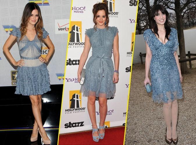 Elles portent toutes... une robe azur !