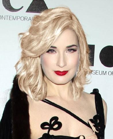 Dita Von Teese blonde (photomontage)