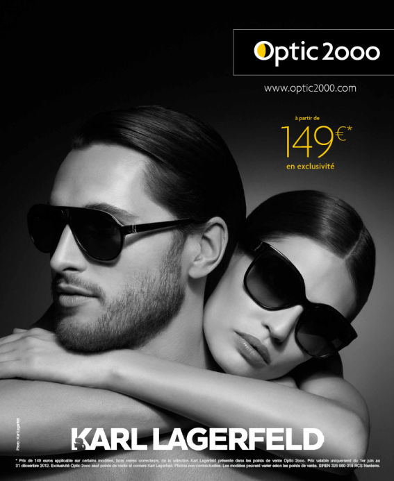 Collection Karl Lagrfeld 2012 pour Optic 2000