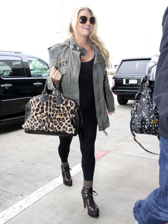 Vous l'aurez compris, elle adore son sac léopard !