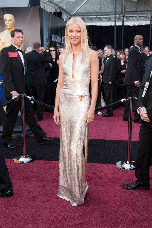 Gwyneth Paltrow en 2011 dans une robe blanche de la maison Tom Ford