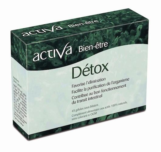 Bien-être Détox, Activa, 45 gélules 18 € / Un complexe d'algues riches en fi bres solubles qui nettoient les intestins, capte polluants et é...