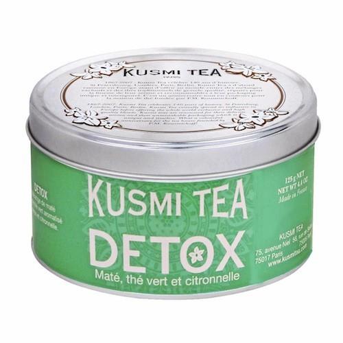 Thé détox 125 g, 24 sachets Kusmi Tea 14,50 € / Ce thé vert de Chine, associé au maté et aromatisé au citron, présente une action diurétiq...