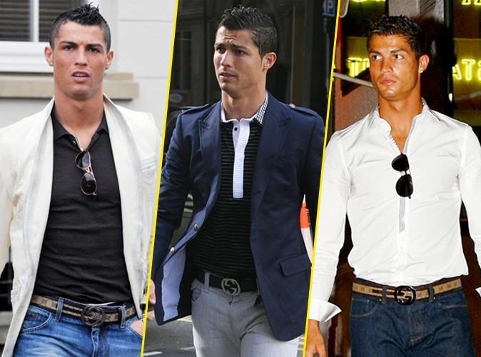 Looks de Cristiano Ronaldo : Sa fashion fixette ? La ceinture Gucci !