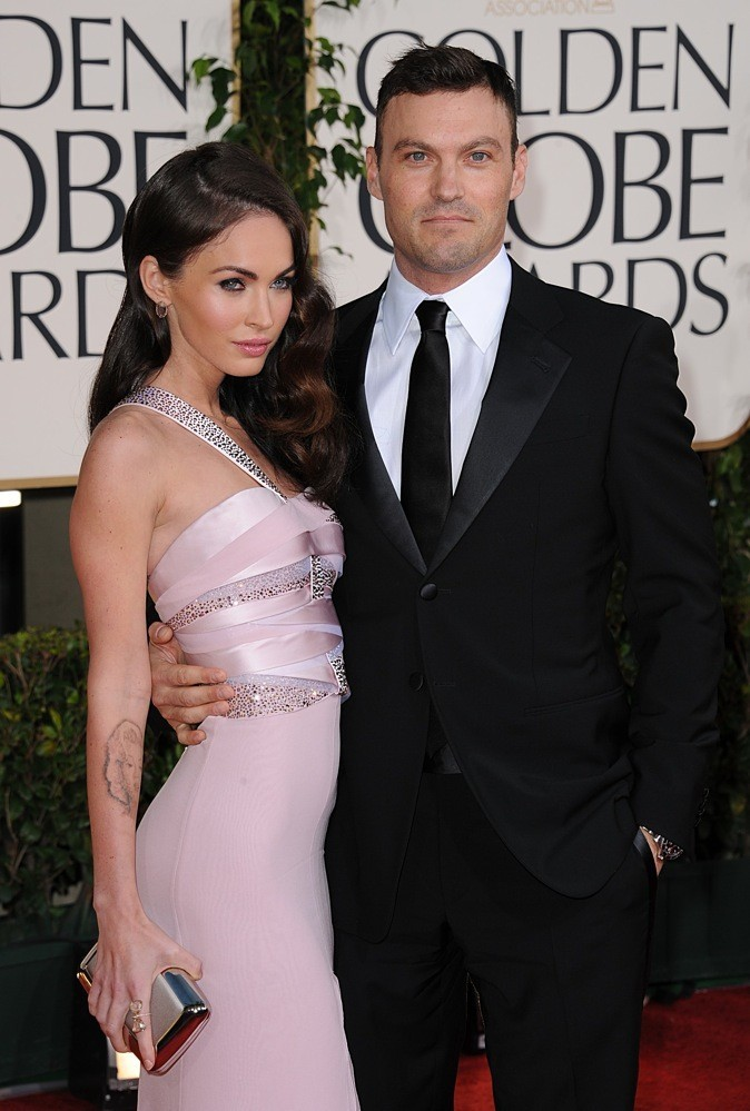 Megan et Austin lors des Golden Globes !