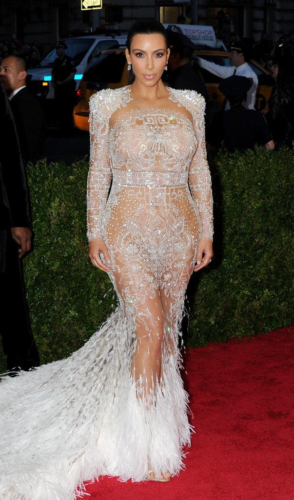 Kim Kardashian lors du Met Gala 2015