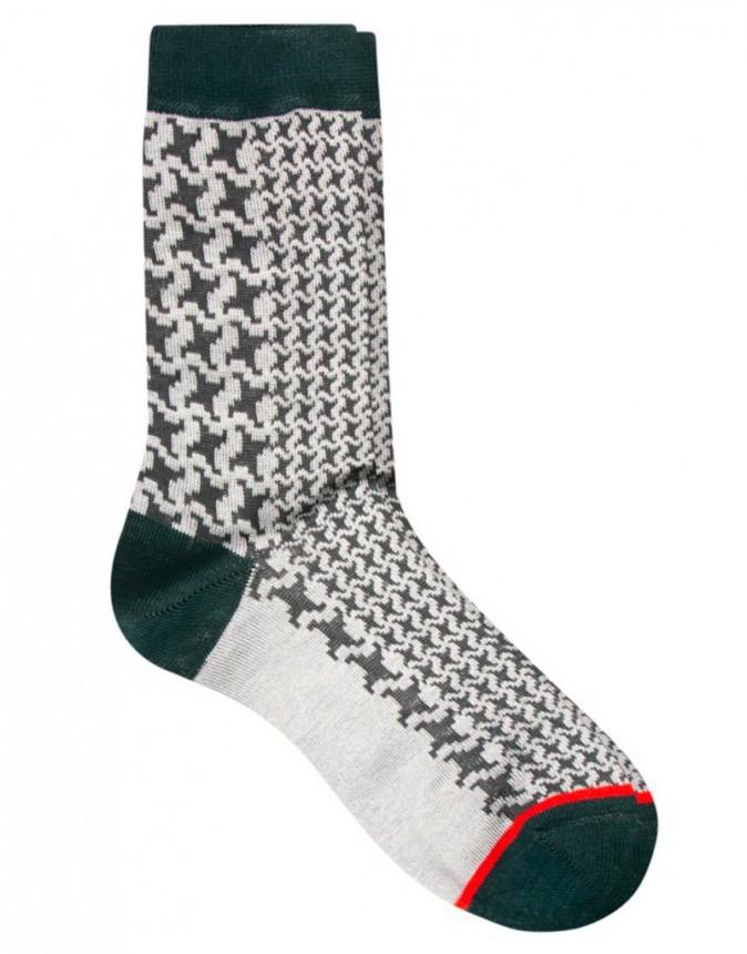 Chaussettes motif pied de poule, Paul Smith, 22€