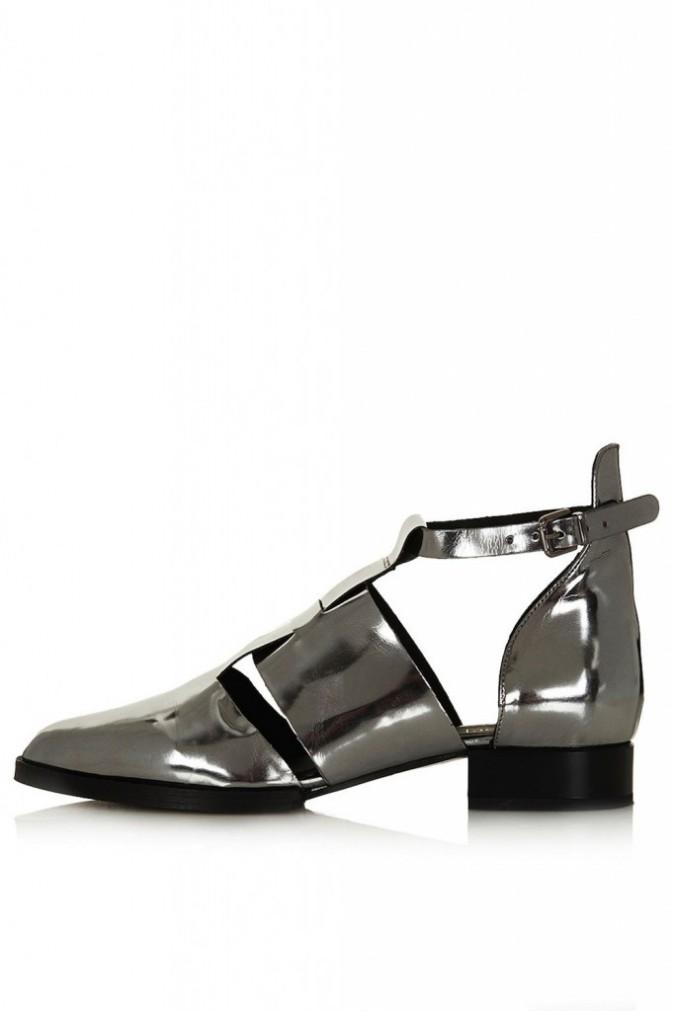 Chaussures ajourées en cuir, Topshop, 98€