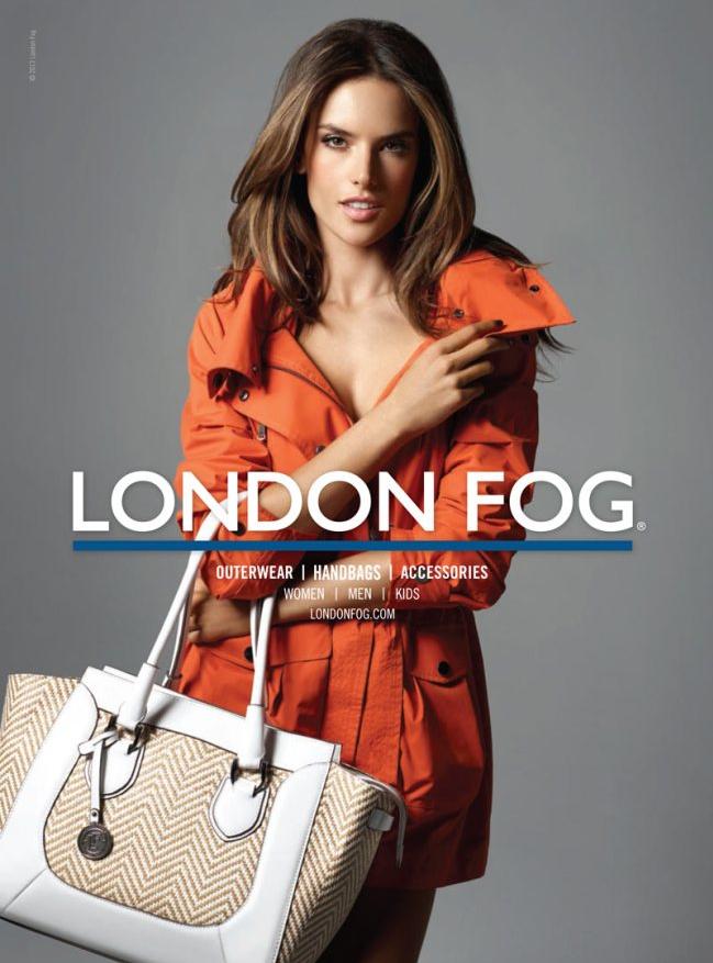 Alessandra Ambrosio pour London Fog