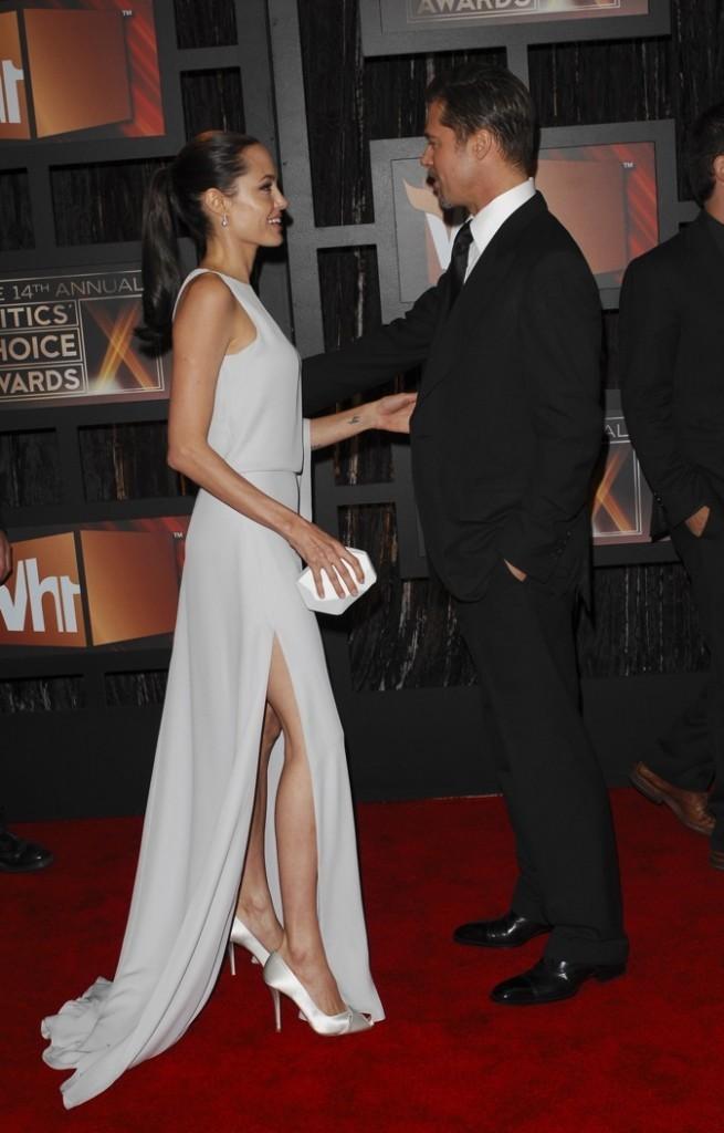 Janvier 2009 : Angelina Jolie et Brad Pitt à la cérémonie des Critics Choice Awards