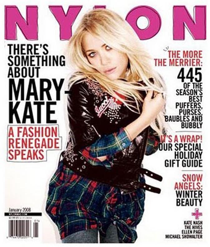 Mary-Kate Olsen fait la couverture de Nylon en Janvier 2008 !