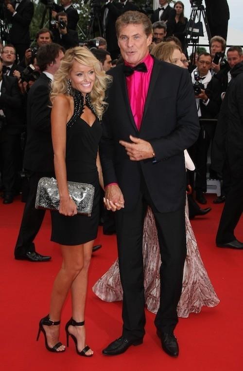 David Hasselhoff et sa femme le 16 mai 2013