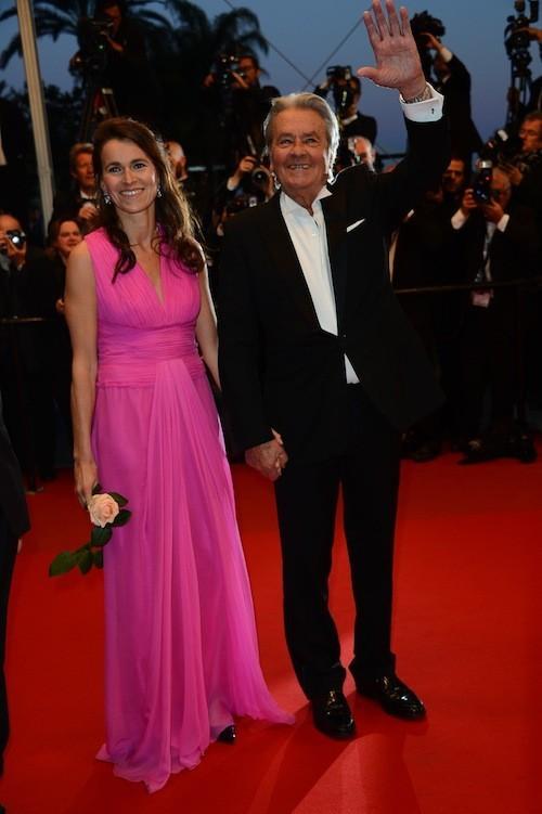 Alain Delon et Aurelie Filippetti