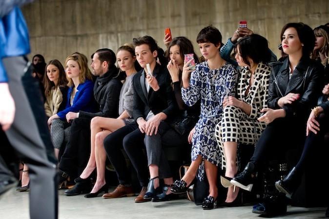 Que du beau monde en Front Row : Olivia Palermo, Kate Bosworth et son boyfriend Michael Polish, Louis Tomlinson et sa copine Eleanor Calder, Pixie G...