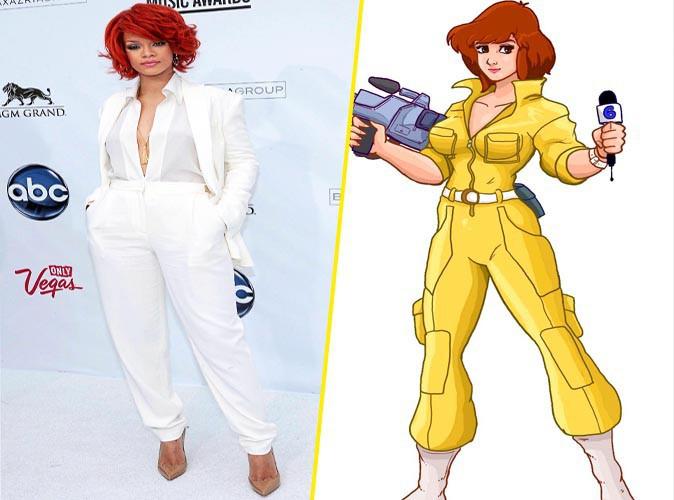 Rihanna et April des Tortues Ninja !