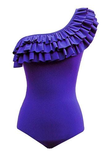 Maillot de bain Mouillé une-pièce violet modèle Chloe : 125€