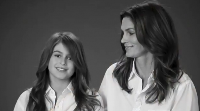Cindy Crawford et sa fille Kaia pour la campagne JCPenney