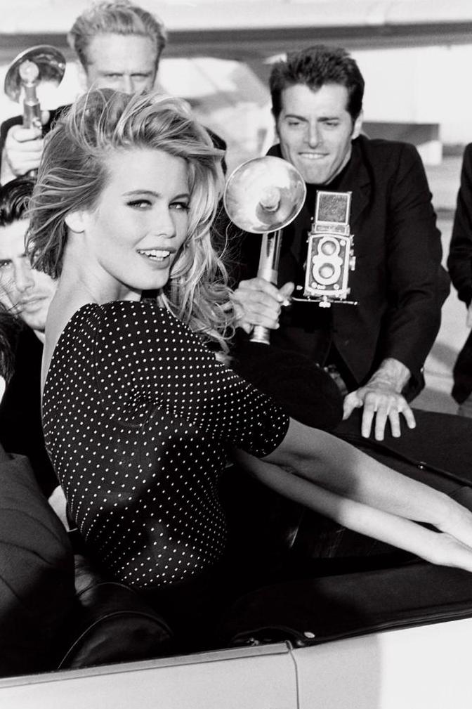 Claudia Schiffer pour la campagne Guess en 1989